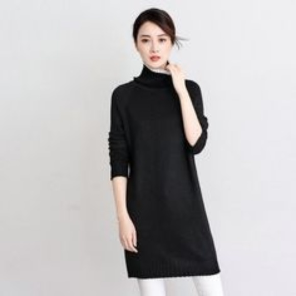 Lacoste Sweaters Black Chunky Turtleneck Sweater Dress 46 L Poshmark